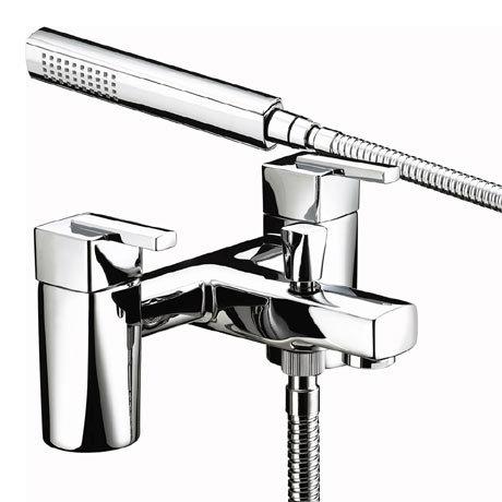 Bristan - Qube Bath Shower Mixer - Chrome - QU-BSM-C
