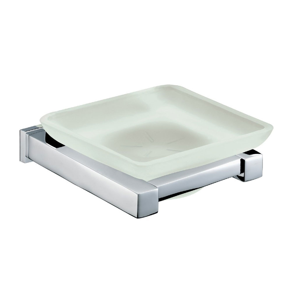Bristan - Qube Frosted Glass Soap Dish - QU-DISH-C Large Image