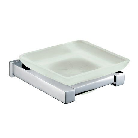 Bristan - Qube Frosted Glass Soap Dish - QU-DISH-C