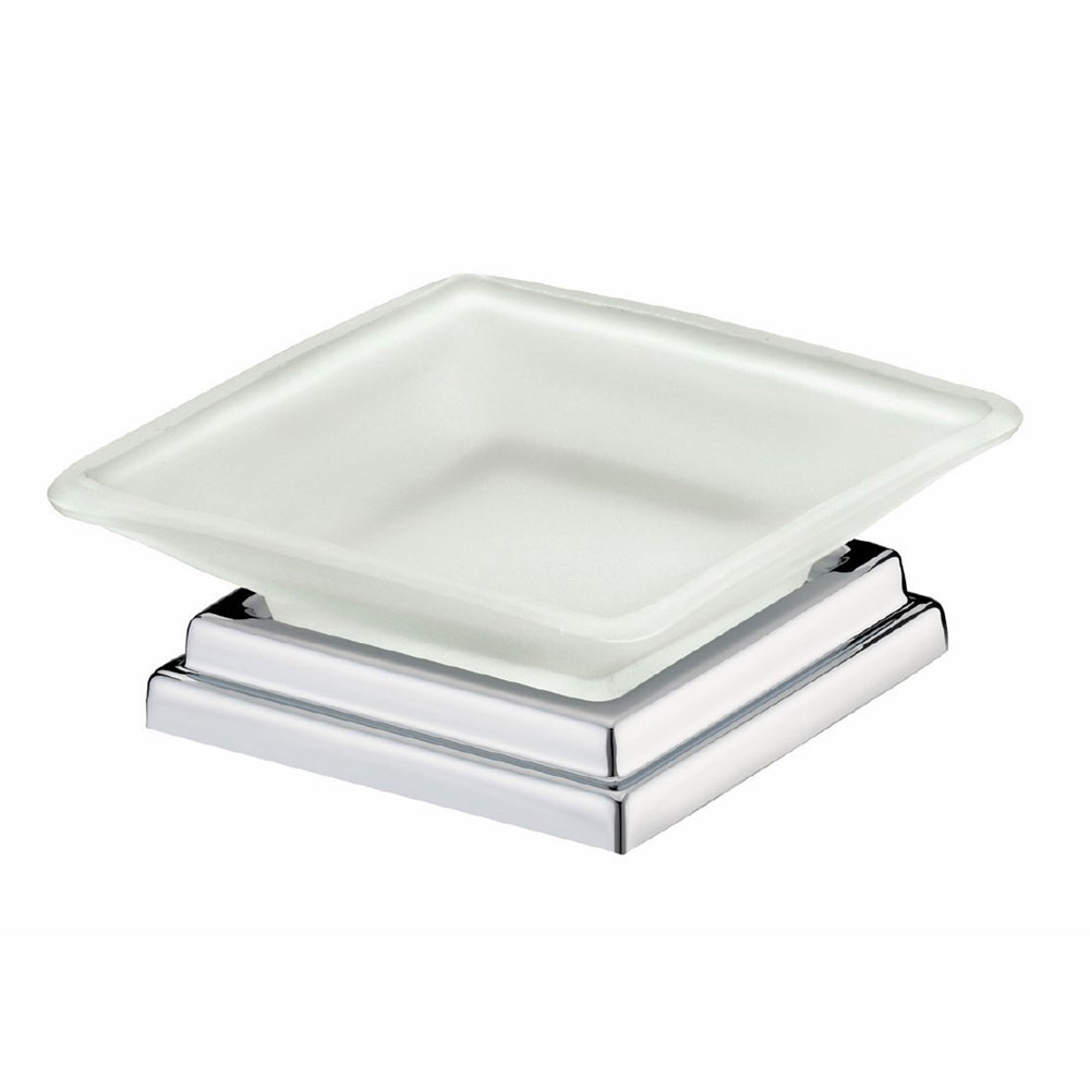Bristan - Qube Freestanding Frosted Soap Dish - QU-FSDISH-C Large Image