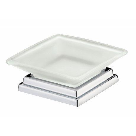 Bristan - Qube Freestanding Frosted Soap Dish - QU-FSDISH-C