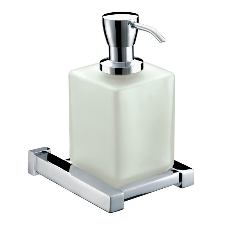 Bristan Qube Wall Mounted Frosted Glass Soap Dispenser Online Now