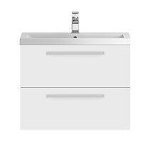 Hudson Reed 720mm Gloss White Modular Basin Vanity Unit Medium Image