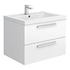 Hudson Reed 720mm Gloss White Modular Basin Vanity Unit profile small image view 1