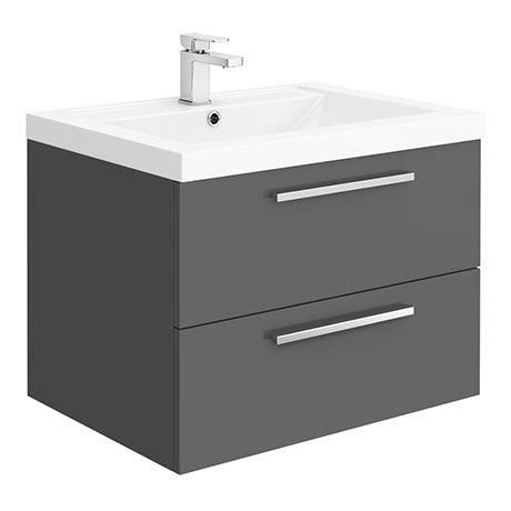 Hudson Reed 720mm Gloss Grey Modular Basin Vanity Unit