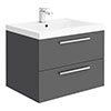 Hudson Reed 720mm Gloss Grey Modular Basin Vanity Unit profile small image view 1