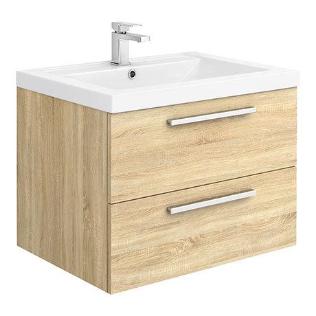 Hudson Reed 720mm Natural Oak Modular Basin Vanity Unit
