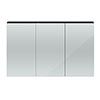 Hudson Reed 1350mm Hacienda Black 3 Door Mirror Cabinet - QUA011 Small Image