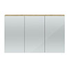 Hudson Reed 1350mm Natural Oak 3 Door Mirror Cabinet - QUA012 Small Image