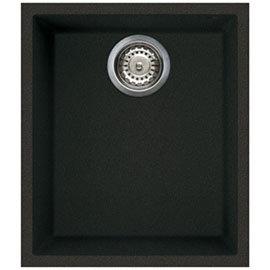 Reginox Quadra 100 1.0 Bowl Undermount Granite Kitchen Sink - Black