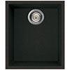 Reginox Quadra 100 1.0 Bowl Undermount Granite Kitchen Sink - Black profile small image view 1