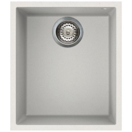 Reginox Quadra 100 1.0 Bowl Undermount Granite Kitchen Sink - White