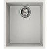 Reginox Quadra 100 1.0 Bowl Undermount Granite Kitchen Sink - White profile small image view 1