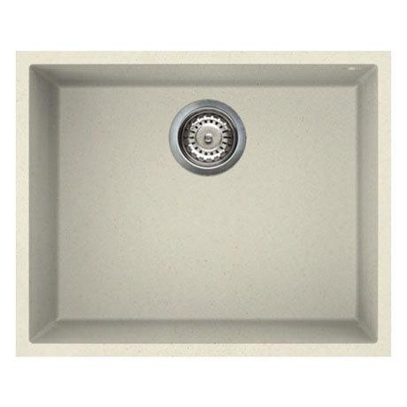 Reginox Quadra 105 1.0 Bowl Undermount Granite Kitchen Sink - Cream