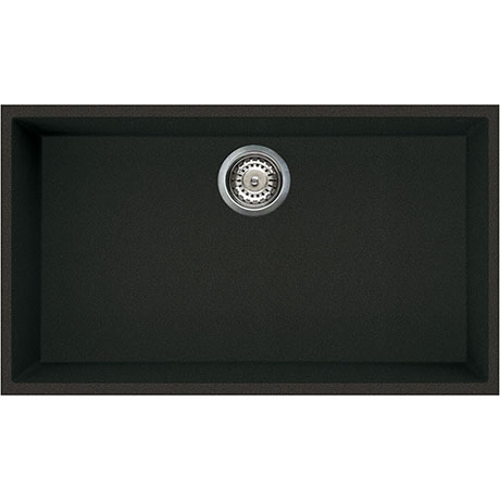 Reginox Quadra 130 1.0 Bowl Undermount Granite Kitchen Sink - Black