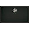 Reginox Quadra 130 1.0 Bowl Undermount Granite Kitchen Sink - Black profile small image view 1