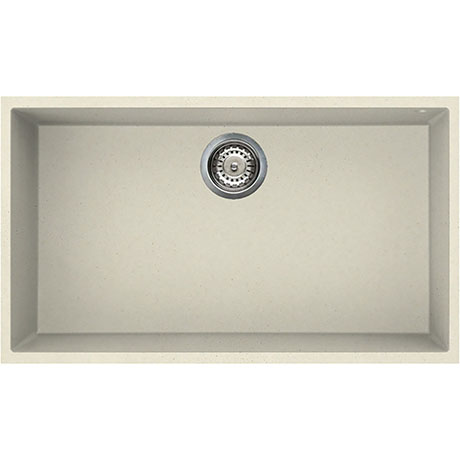 Reginox Quadra 130 1.0 Bowl Undermount Granite Kitchen Sink - Cream