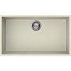Reginox Quadra 130 1.0 Bowl Undermount Granite Kitchen Sink - Cream profile small image view 1