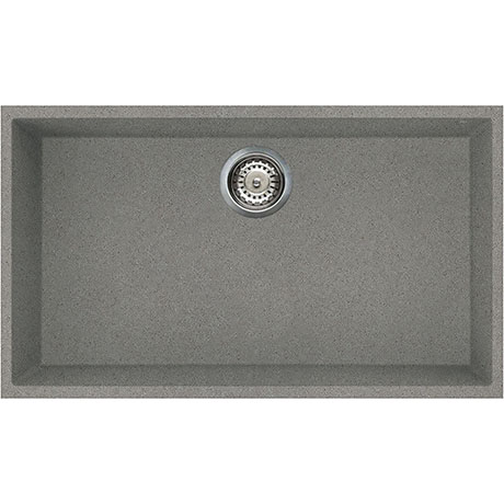 Reginox Quadra 130 1.0 Bowl Undermount Granite Kitchen Sink - Titanium