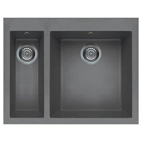 Reginox Quadra 150 1.5 Bowl Inset Granite Kitchen Sink - Titanium