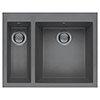 Reginox Quadra 150 1.5 Bowl Inset Granite Kitchen Sink - Titanium profile small image view 1