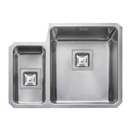 Rangemaster Atlantic Quad QUB3416 1.5 Bowl Stainless Steel Undermount Kitchen Sink 580 x 450mm