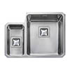 Rangemaster Atlantic Quad QUB3416 1.5 Bowl Stainless Steel Undermount Kitchen Sink 580 x 450mm profile small image view 1