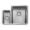 Rangemaster Atlantic Quad QUB3416 1.5 Bowl Stainless Steel Undermount Kitchen Sink 580 x 450mm profile small image view 1