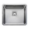 Rangemaster Atlantic Quad QUB48 Stainless Steel Undermount Kitchen Sink 530 x 450mm profile small image view 1