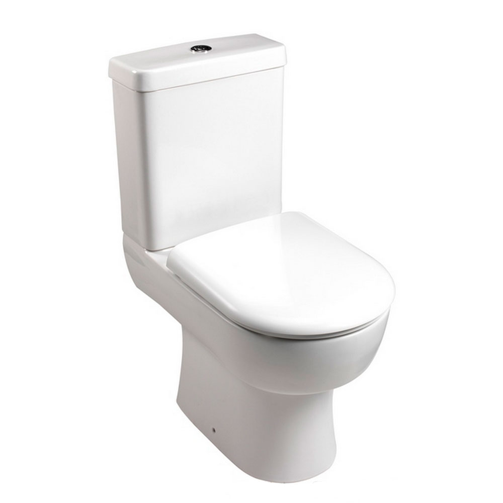 Bristan - Qube Close Coupled Toilet with Soft Close Seat profile large image view 1
