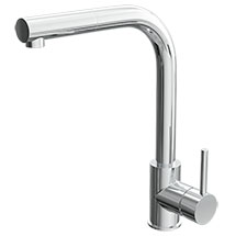 Quebec Modern Chrome Kitchen Sink Mono Mixer Tap with Pull-Out Spray Medium Image