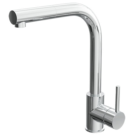 Quebec Modern Chrome Kitchen Sink Mono Mixer Tap with Pull-Out Spray