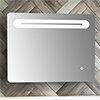 Quebec 650x500mm LED Mirror Inc. Touch Sensor, Anti-Fog + Shaving Port profile small image view 1