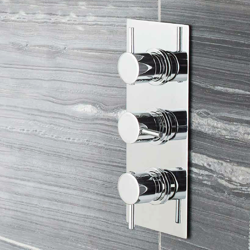 Ultra Quest Concealed Thermostatic Triple Shower Valve with Built-in Diverter Profile Large Image