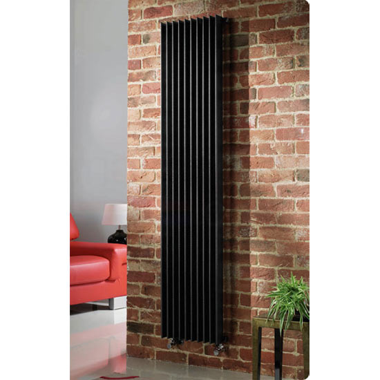 Quinn Adagio Single Column Radiator Vertical Black 6
