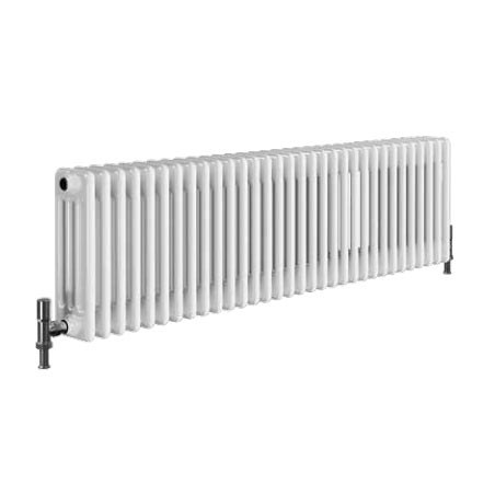Quinn Forza 3 Column Radiator - Horizontal - White - 16 x Size Options Profile Large Image
