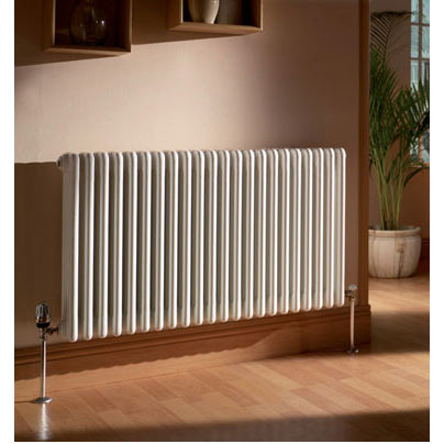 Quinn Forza 3 Column Radiator - Horizontal - White - 16 x Size Options Large Image