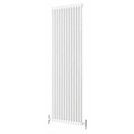 Quinn Forza 2 Column Radiator - Vertical - White - 4 x Size Options