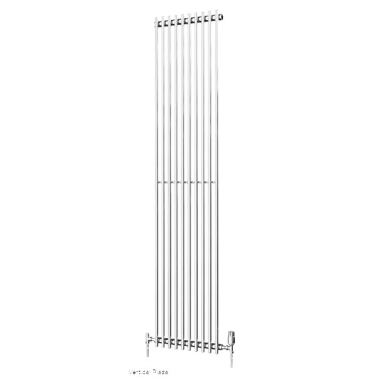 Quinn Plaza Tube Radiator - Vertical - White - 3 x Size Options profile large image view 1