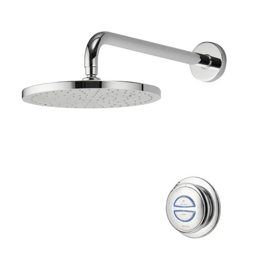 Aqualisa - Quartz Digital Concealed Thermostatic Shower with Wall Mounted Fixed Head Large Image