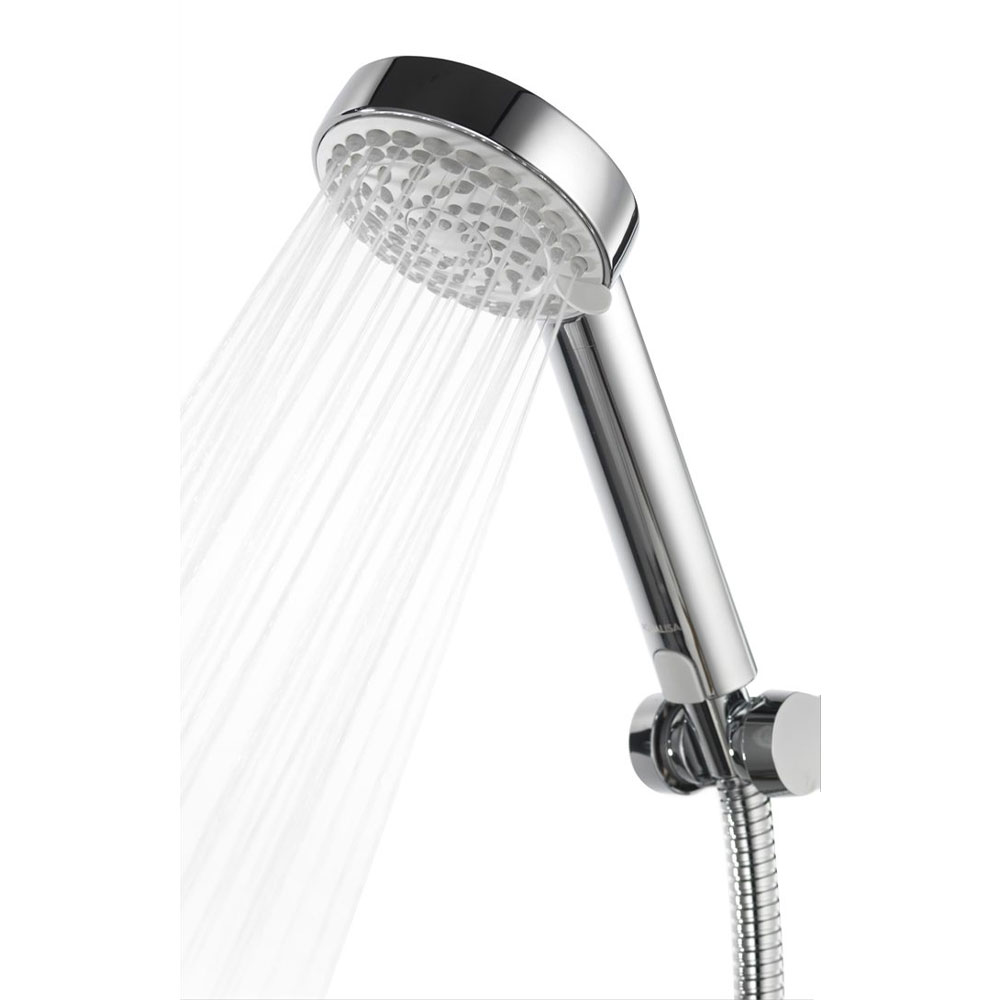 Aqualisa - Quartz Digital Divert Exposed Thermostatic Shower with Ceiling Mounted Fixed & Adjustable Heads  Feature Large Image