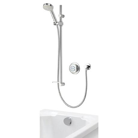 Aqualisa - Quartz Digital Divert Concealed Thermostatic Shower with Adjustable Head & Overflow Bath