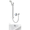 Aqualisa - Quartz Digital Divert Concealed Thermostatic Shower with Adjustable Head & Overflow Bath Filler profile small image view 1
