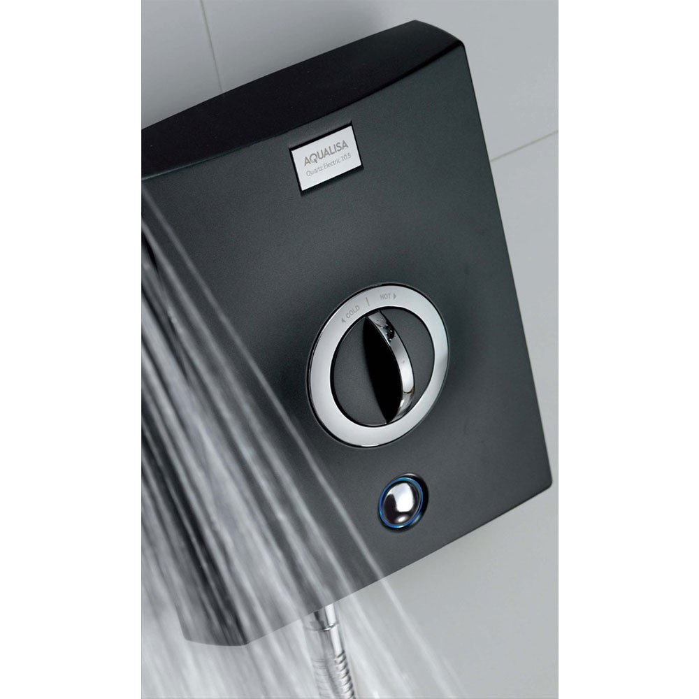 Aqualisa - Quartz Electric Shower - Graphite/Chrome Standard Large Image