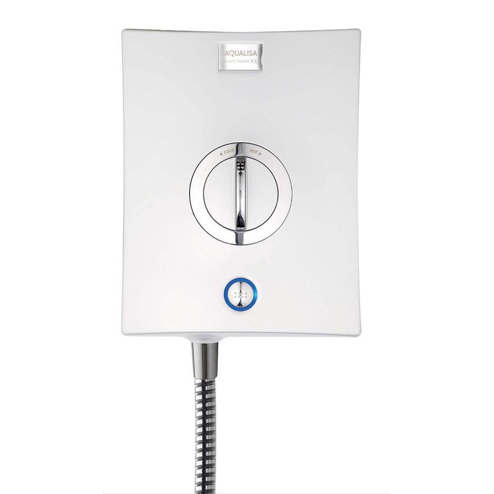 Aqualisa - Quartz Electric Shower - White/Chrome profile large image view 3