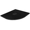 Imperia 900 x 900mm Black Slate Effect Quadrant Shower Tray + Black Waste profile small image view 1