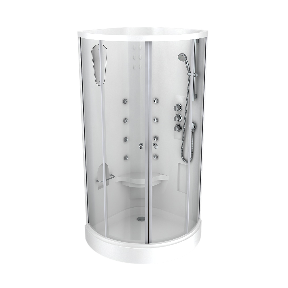 Quadrant Hydro Massage Shower Cabin Enclosure - HMC001 Profile Large Image
