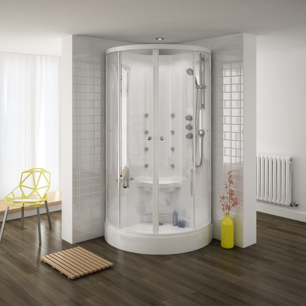 Buy Online Quadrant Hydro Massage Shower Cabin Enclosure. Stylish ...