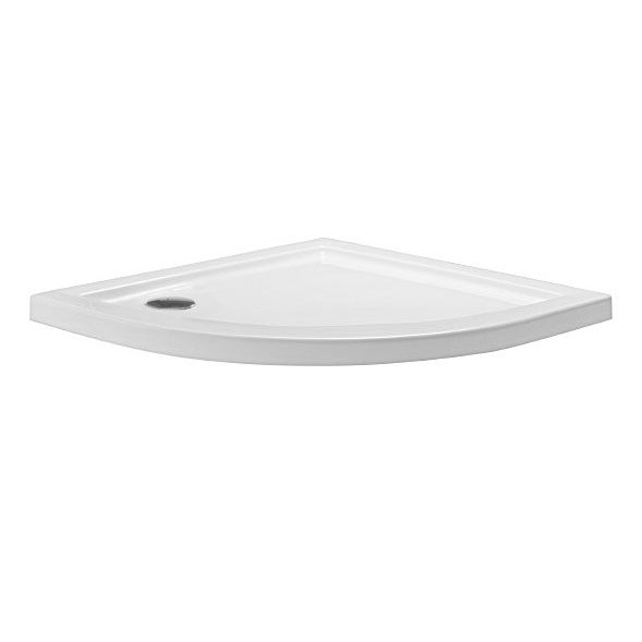 Simpsons - Quadrant Low Profile Acrylic Shower Tray with Waste - 3 Size Options Large Image