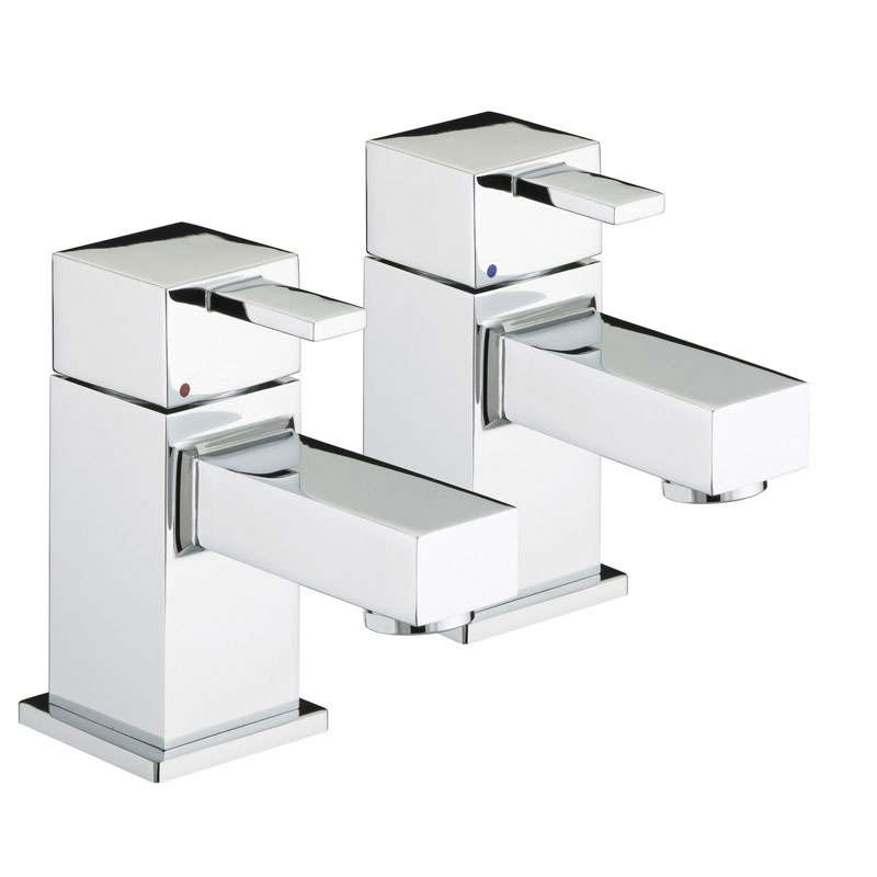 Bristan - Quadrato Bath Taps - Chrome - QD-3/4-C Large Image
